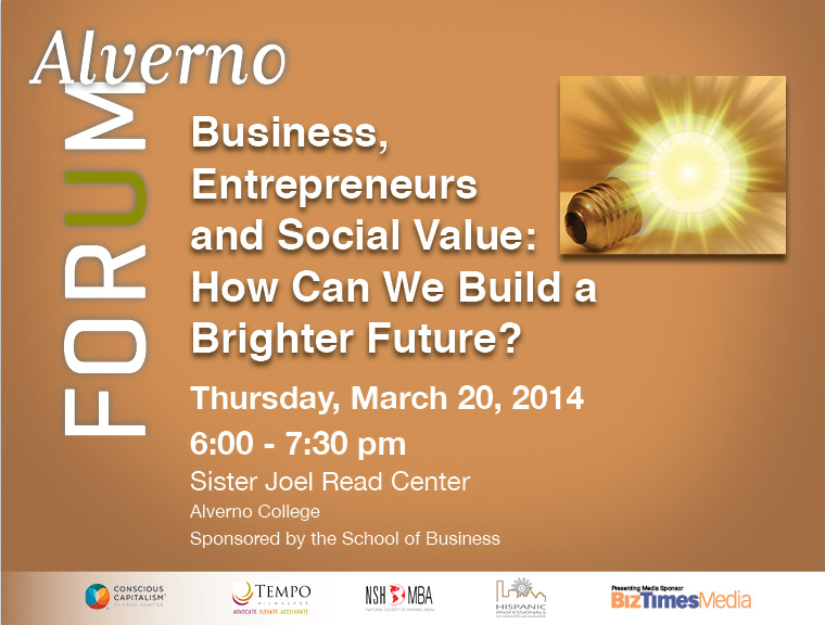 graphic for March 2014 Alverno Forum